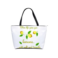 When Life Gives You Lemons Shoulder Handbags by Valentinaart
