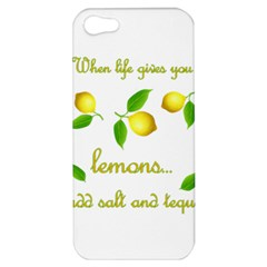 When Life Gives You Lemons Apple Iphone 5 Hardshell Case by Valentinaart