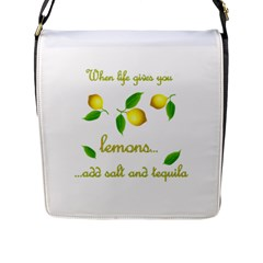 When Life Gives You Lemons Flap Messenger Bag (l)  by Valentinaart