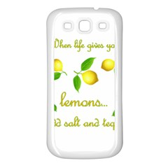 When Life Gives You Lemons Samsung Galaxy S3 Back Case (white) by Valentinaart
