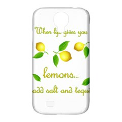 When Life Gives You Lemons Samsung Galaxy S4 Classic Hardshell Case (pc+silicone) by Valentinaart