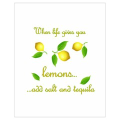 When Life Gives You Lemons Drawstring Bag (small) by Valentinaart