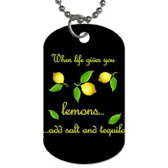 When Life Gives You Lemons Dog Tag (two Sides) by Valentinaart