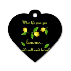 When Life Gives You Lemons Dog Tag Heart (one Side) by Valentinaart