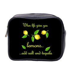 When Life Gives You Lemons Mini Toiletries Bag 2 Side by Valentinaart