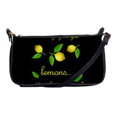 When Life Gives You Lemons Shoulder Clutch Bags by Valentinaart