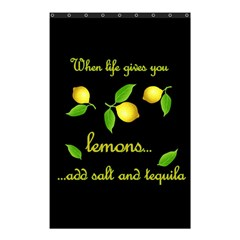 When Life Gives You Lemons Shower Curtain 48  X 72  (small)  by Valentinaart