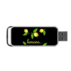 When Life Gives You Lemons Portable Usb Flash (two Sides) by Valentinaart