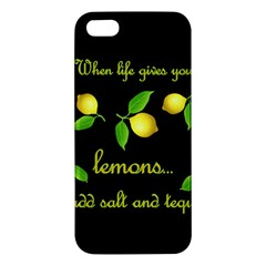 When Life Gives You Lemons Iphone 5s/ Se Premium Hardshell Case by Valentinaart