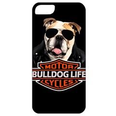 Bulldog Biker Apple Iphone 5 Classic Hardshell Case by Valentinaart