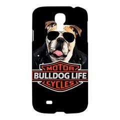 Bulldog Biker Samsung Galaxy S4 I9500/i9505 Hardshell Case by Valentinaart