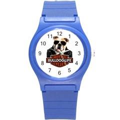 Bulldog Biker Round Plastic Sport Watch (s) by Valentinaart