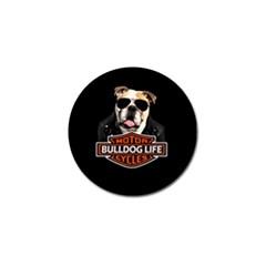 Bulldog Biker Golf Ball Marker (4 Pack) by Valentinaart