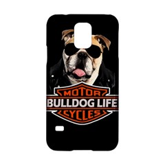 Bulldog Biker Samsung Galaxy S5 Hardshell Case  by Valentinaart