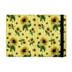 Sunflowers Pattern Apple Ipad Mini Flip Case by Valentinaart