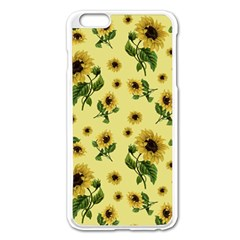 Sunflowers Pattern Apple Iphone 6 Plus/6s Plus Enamel White Case by Valentinaart
