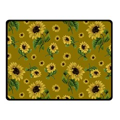 Sunflowers Pattern Fleece Blanket (small) by Valentinaart