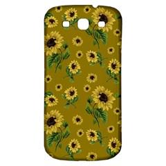 Sunflowers Pattern Samsung Galaxy S3 S Iii Classic Hardshell Back Case by Valentinaart