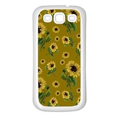 Sunflowers Pattern Samsung Galaxy S3 Back Case (white) by Valentinaart