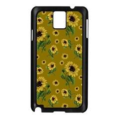 Sunflowers Pattern Samsung Galaxy Note 3 N9005 Case (black) by Valentinaart