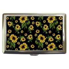 Sunflowers Pattern Cigarette Money Cases by Valentinaart
