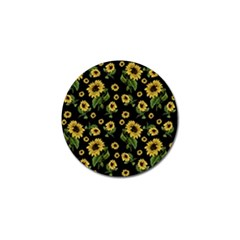 Sunflowers Pattern Golf Ball Marker (4 Pack) by Valentinaart