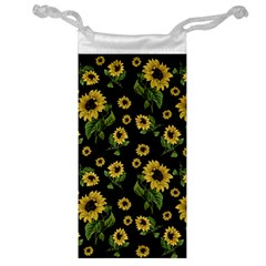 Sunflowers Pattern Jewelry Bag by Valentinaart