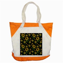 Sunflowers Pattern Accent Tote Bag by Valentinaart