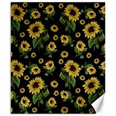 Sunflowers Pattern Canvas 20  X 24   by Valentinaart