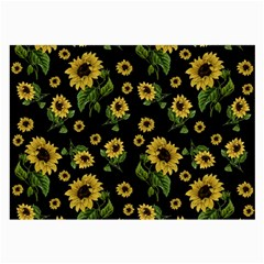 Sunflowers Pattern Large Glasses Cloth (2 Side) by Valentinaart