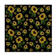 Sunflowers Pattern Face Towel by Valentinaart