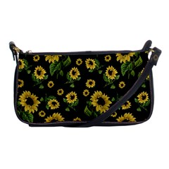 Sunflowers Pattern Shoulder Clutch Bags by Valentinaart