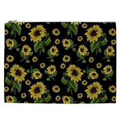 Sunflowers Pattern Cosmetic Bag (xxl)  by Valentinaart