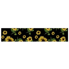 Sunflowers Pattern Flano Scarf (small) by Valentinaart