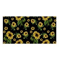 Sunflowers Pattern Satin Shawl by Valentinaart