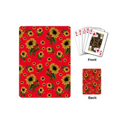 Sunflowers Pattern Playing Cards (mini)  by Valentinaart