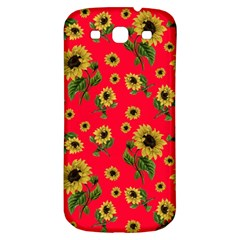 Sunflowers Pattern Samsung Galaxy S3 S Iii Classic Hardshell Back Case by Valentinaart