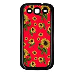 Sunflowers Pattern Samsung Galaxy S3 Back Case (black) by Valentinaart