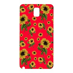 Sunflowers Pattern Samsung Galaxy Note 3 N9005 Hardshell Back Case by Valentinaart