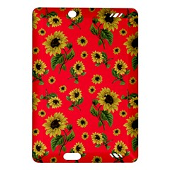 Sunflowers Pattern Amazon Kindle Fire Hd (2013) Hardshell Case by Valentinaart