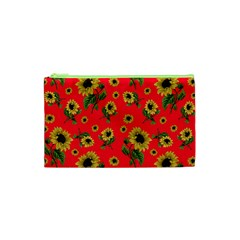 Sunflowers Pattern Cosmetic Bag (xs) by Valentinaart