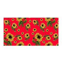 Sunflowers Pattern Satin Wrap by Valentinaart