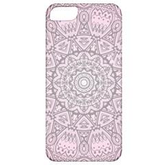 Pink Mandala Art  Apple Iphone 5 Classic Hardshell Case by paulaoliveiradesign
