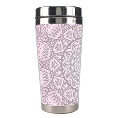 Pink Mandala Art  Stainless Steel Travel Tumblers by paulaoliveiradesign