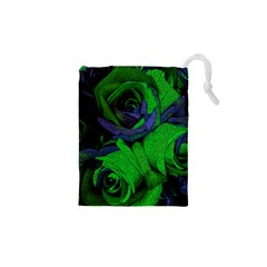 Roses Vi Drawstring Pouches (xs)  by markiart