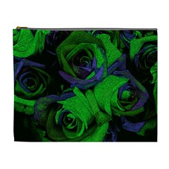 Roses Vi Cosmetic Bag (xl) by markiart