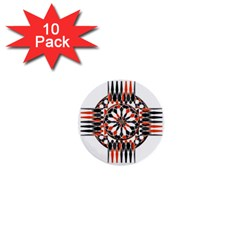 Geometric Celtic Cross 1  Mini Buttons (10 Pack)  by linceazul
