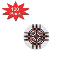 Geometric Celtic Cross 1  Mini Buttons (100 Pack)  by linceazul