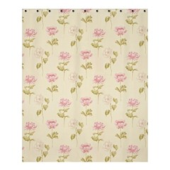 Floral Paper Illustration Girly Pink Pattern Shower Curtain 60  X 72  (medium)  by paulaoliveiradesign