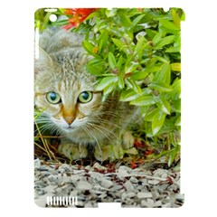Hidden Domestic Cat With Alert Expression Apple Ipad 3/4 Hardshell Case (compatible With Smart Cover) by dflcprints